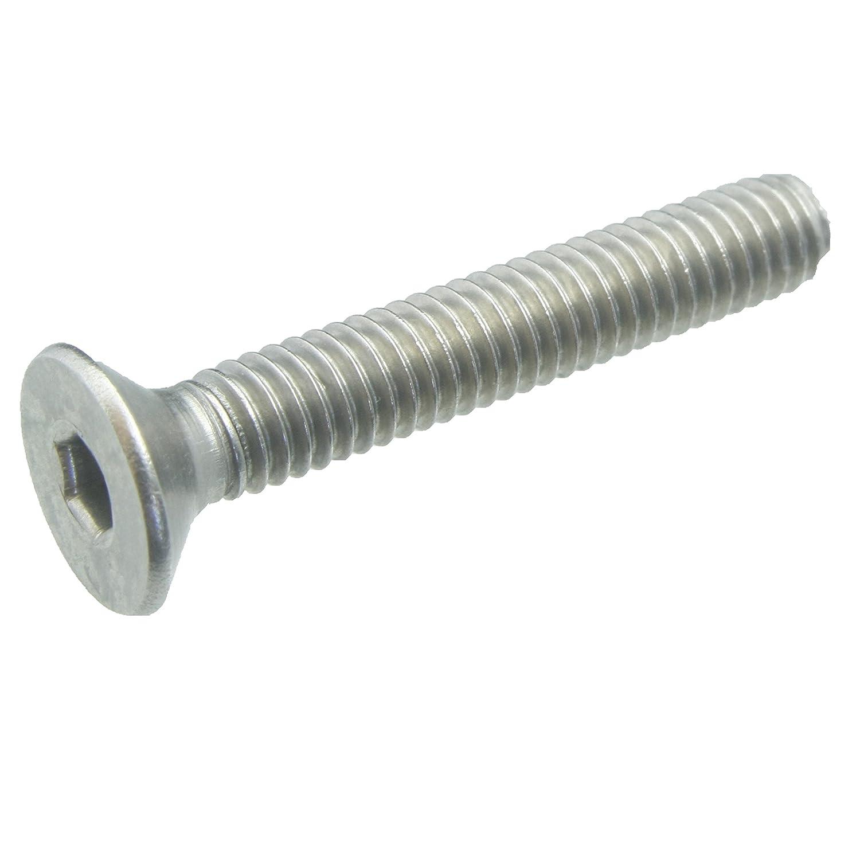 100 Senkkopfschrauben Edelstahl M4 x 12 mm – ISO 10642 / DIN 7991 – Senkschrauben mit Innensechskant und Vollgewinde – Werkstoff A2 (VA / V2A) schrauben-niro.de ®