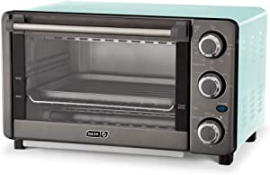 Dash Express Countertop Toaster Oven with Quartz Technology, Bake, Broil, and Toast with 4 Slice Capacity and Pizza Capability – Aqua