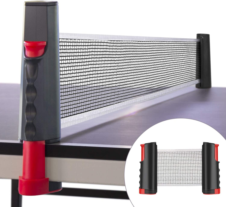 WOSTOO Red de Tenis de Mesa, Portátil Retráctil Table Tennis Net Red de Ping-Pong para Entrenamiento Longitud Ajustable a 175 cm Adecuado para Deportes de Interior al Aire Libre