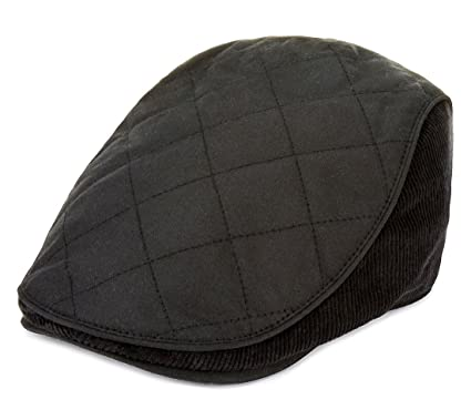 0ef6901f09c Temple Moyle Mills Mens Black Pure Cotton Waxed Thinsulate Flat Cap - Size M