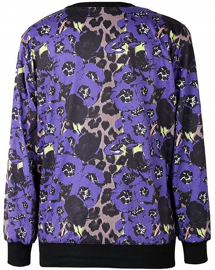 Honey GD Womens Digital Print Stylish Crewneck Pullover Sweatshirts