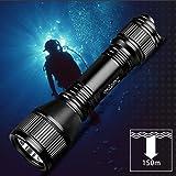 ORCATORCH D550 970 LM Diving Flashlight Underwater Scuba Diving Light, XM-L2 LED Submarine Flashlight