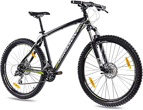 CHRISSON 27,5 Pulgadas Aluminio MTB Mountain Bike Bicicleta 27,5er Unisex con 24 g Shimano 2 x Disk Dragon Rims Negro Mate: Amazon.es: Deportes y aire libre