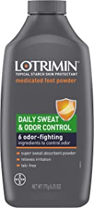 Lotrimin Daily Sweat & Odor Control Medicated Foot Powder, 6.25 Oz (Pack of 1)