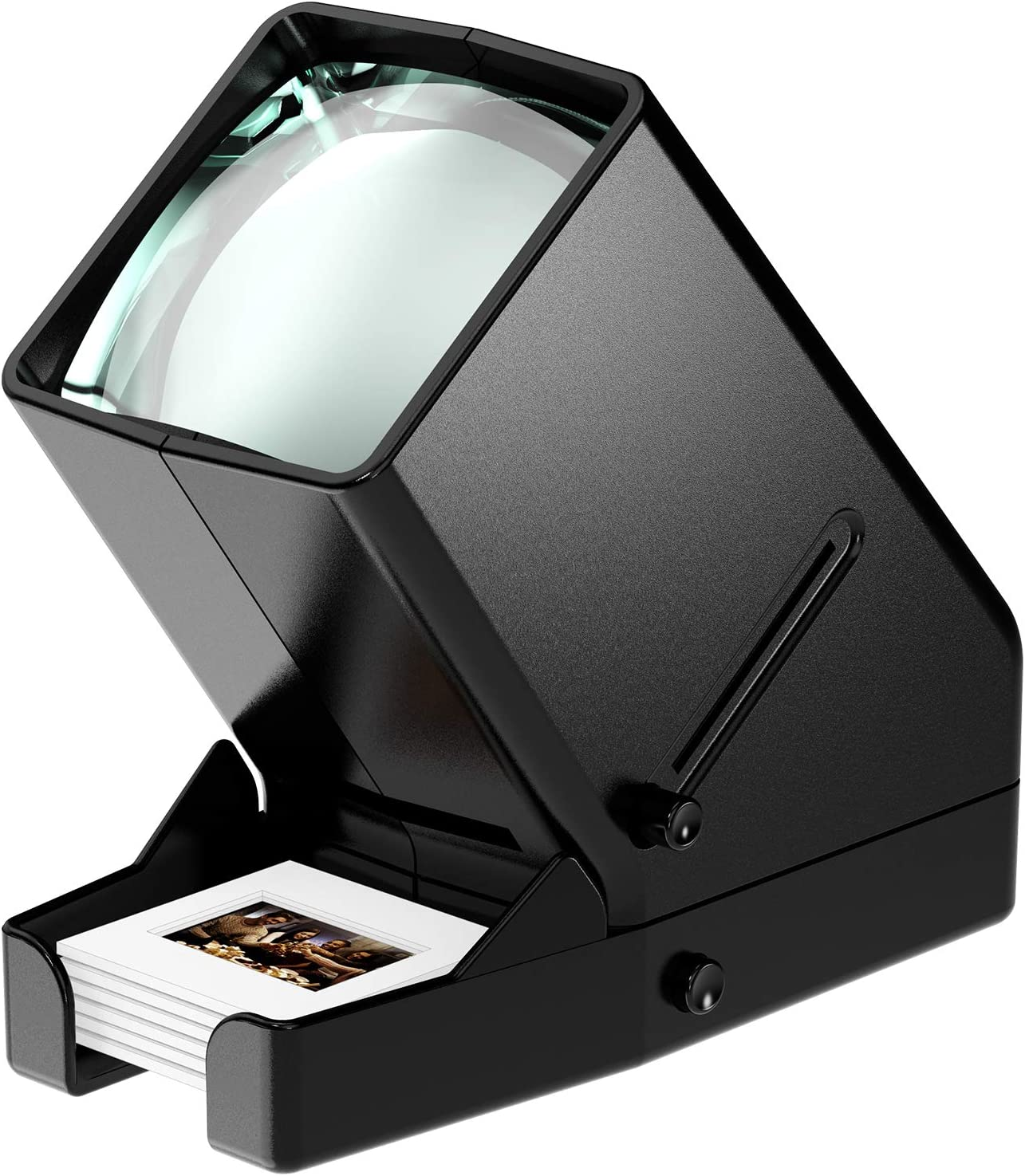 3X Magnification and Desk Top LED Lighted Illuminated Viewing and Battery Operation-for 35mm Slides /& Positive Film Negatives Rybozen 35mm Film and Slide Viewer