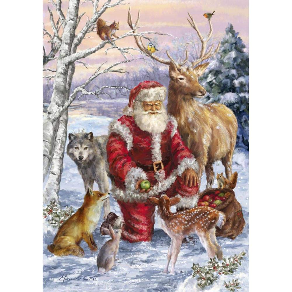 DIY 5D Diamond Painting Kit Christmas Xmas Santa Claus Embroidery Cross Stitch Arts Craft Full Drill Crystal Rhinestone Pictures Mural for Home Wall Living Room Bedroom Office Decor Amaone