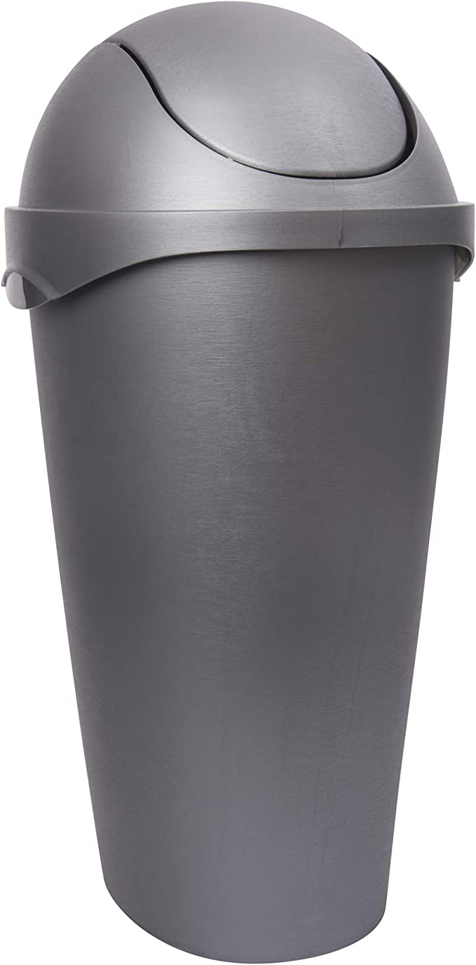 Umbra 086300 410 Nickel Swinger 12 Gallon Swing Top Waste Can Amazon Co Uk Kitchen Home