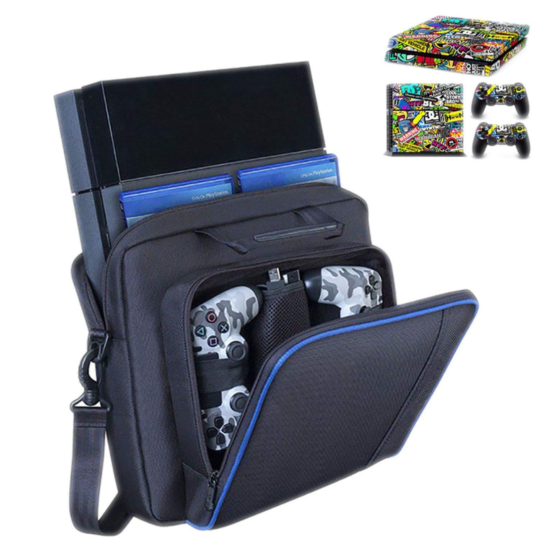 Large Travel Storage Carry Bag for PS4/Slim Protective Shoulder Bag Handbag Console for Sony Playstation 4 Console Game System Bag,T2
