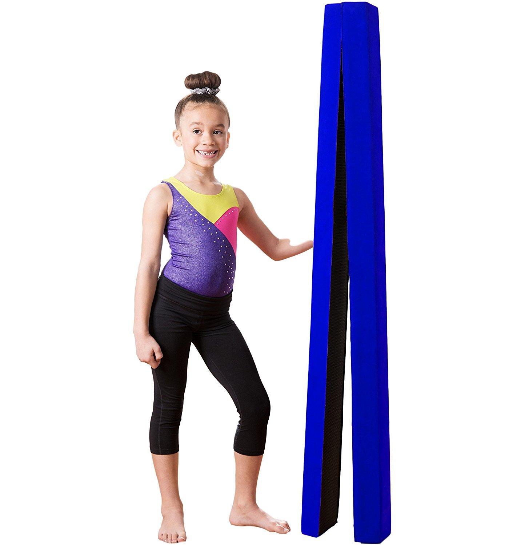 Zerone Faisceau de nastique, simili-cuir souple 7PI pliante poutre d'équilibre de formation pour les enfants et accueil formation