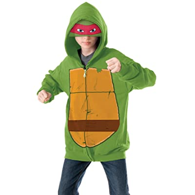 Teenage Mutant Ninja Turtles Raphael Hoodie Costume, Medium: Toys & Games