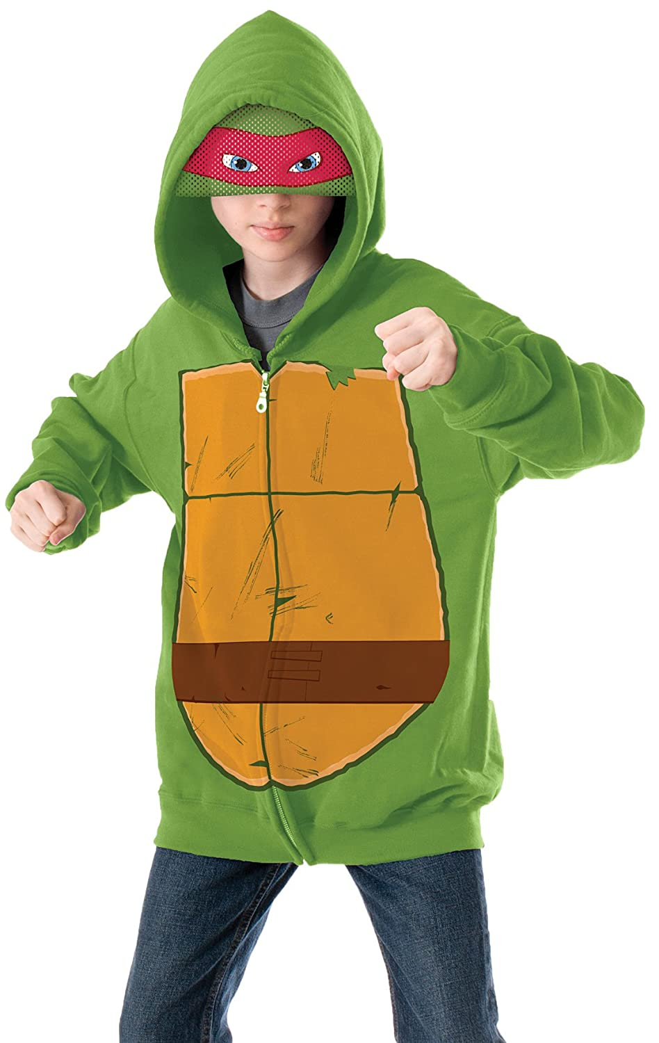 Amazon.com Teenage Mutant Ninja Turtles Raphael Hoodie Costume Small Toys u0026 Games  sc 1 st  Amazon.com & Amazon.com: Teenage Mutant Ninja Turtles Raphael Hoodie Costume ...