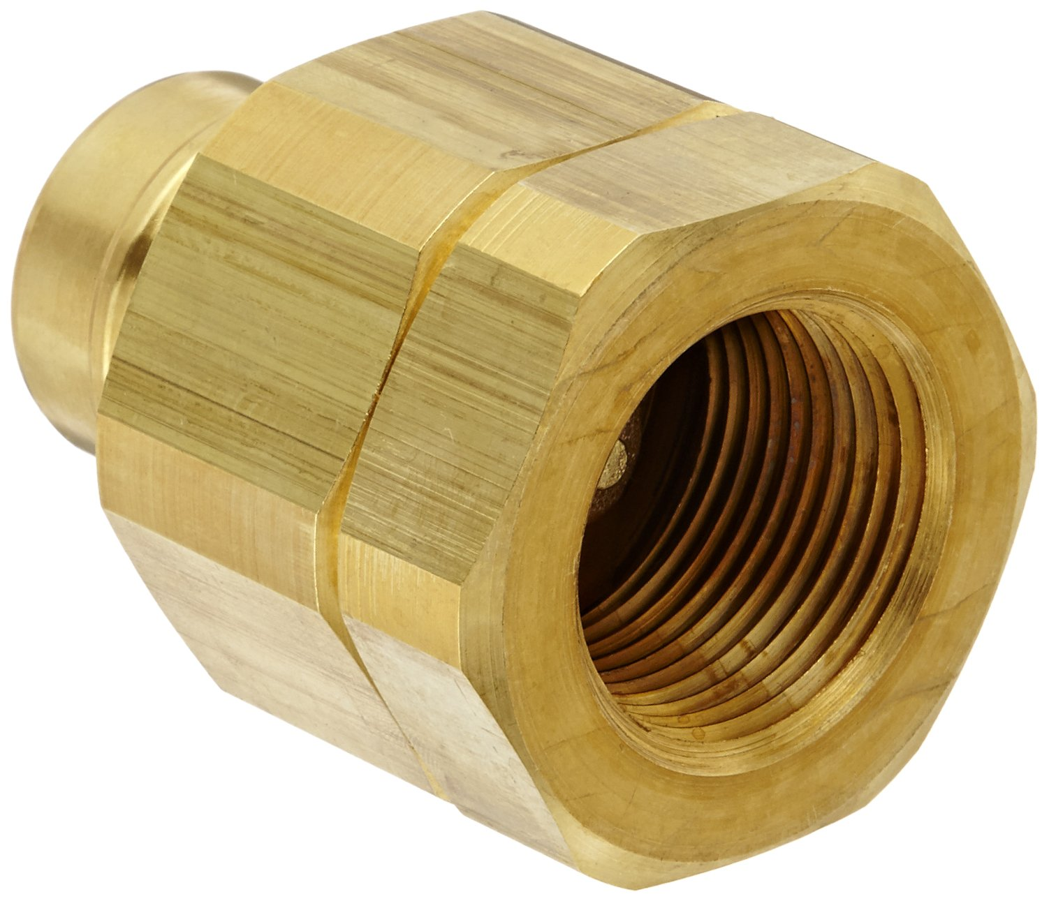 Snap-Tite BVHN16-16F Brass H-Shape Quick-Disconnect Hose Coupling, Nipple, 1'' NPTF Female x 1'' Coupling Size