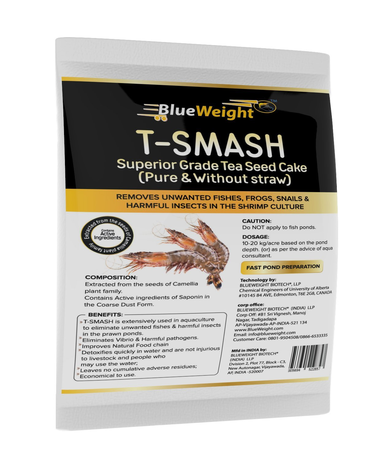 BLUEWEIGHT T-Smash Tea Seed Cake for Shrimp (20 Kg)