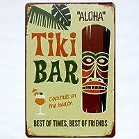 tiki bar aloha metal tin sign Bar Cafe Garage Wall Decor Retro vintage 7.87 X 11.8 inch
