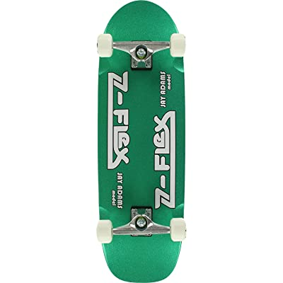 "Z-Flex Skateboards Jay Adams Green Metal Flake Cruiser Complete Skateboard - 9.5"" x 32"" : Sports & Outdoors"
