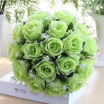 I, Künstliche Blume Dragon868 18Head Kunstseide Rosen Blumen Brautstrauß Rose Home Wedding Decor Kunstblumen & -pflanzen Blumen