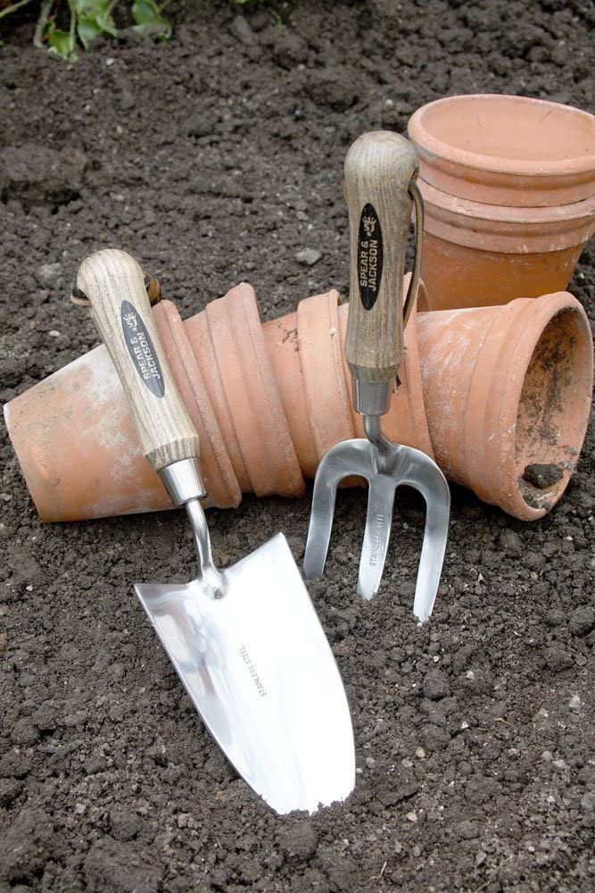 Spear Jackson Traditional English Style Stainless Steel Trowel 5030TR for Digging and Planting
