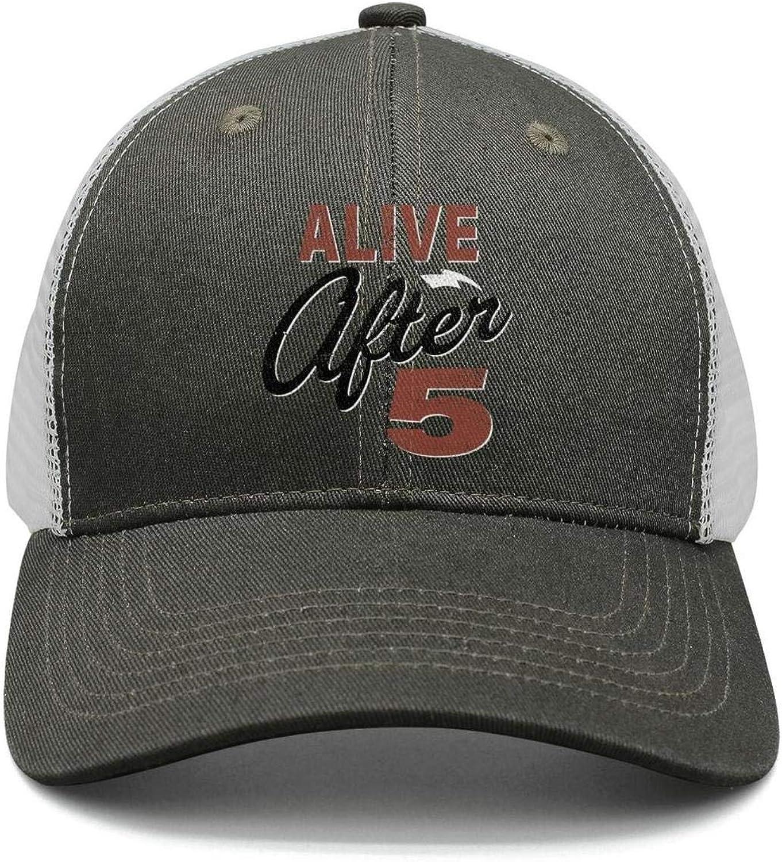 TylerLiu Baseball Cap Happy Alive After 5 Retro Snapbacks Truker Hats Unisex Adjustable Fashion Cap