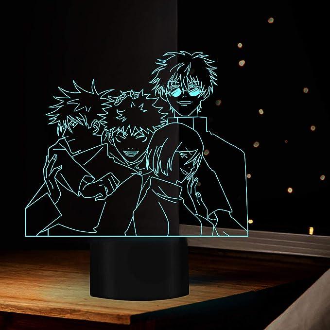 Anime Lampe Ryomen Sukuna Satoru Gojo Licht Jujutsu Kaisen Led Yuji Itadori Nachtlicht Fur Geburtstag Geschenk Jujutsu Kaisen Nachtlicht Ryomen Sukuna Lampe Touch Fernbedienung Amazon De Beleuchtung