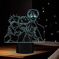3D Visuele Anime Nachtverlichting voor Kids Anime Jujutsu Kaisen Acryl Satoru Gojo Team Tafellamp Slaapkamer LED Kids…