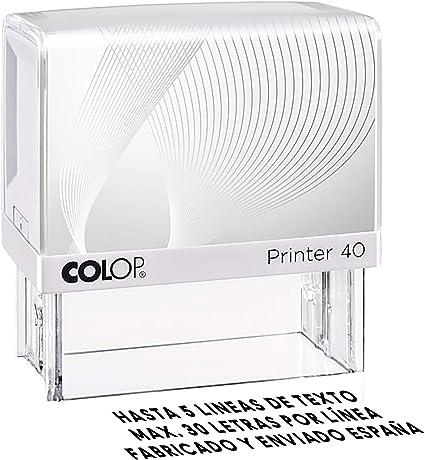Sello Personalizado, Sello de caucho con tinta, Sello autoenintable personalizado, Sello automático, Sello Empresa, Sello dirección (47x18mm): Amazon.es: Oficina y papelería