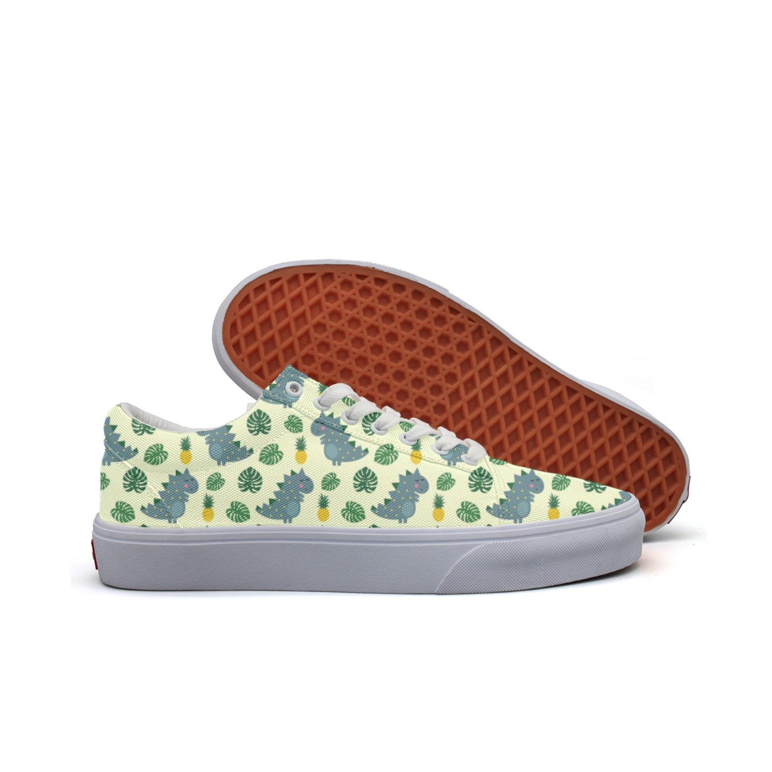 Cute Dinosaur With Pineapple Women/'s Casual Shoes Flat Classic News Gym