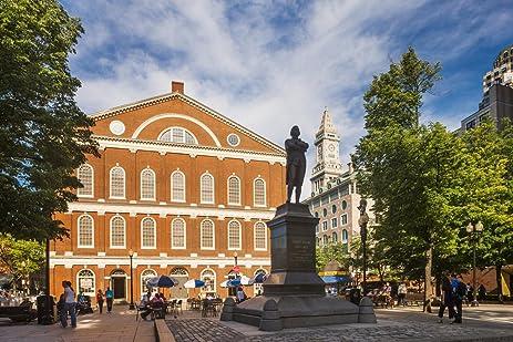 Samuel Adams Statue At Faneuil Hall Boston Photo Art Print Poster 18x12