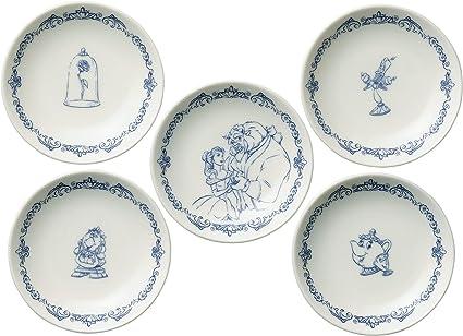 amazon com maebata walt disney beauty and the beast dish plate
