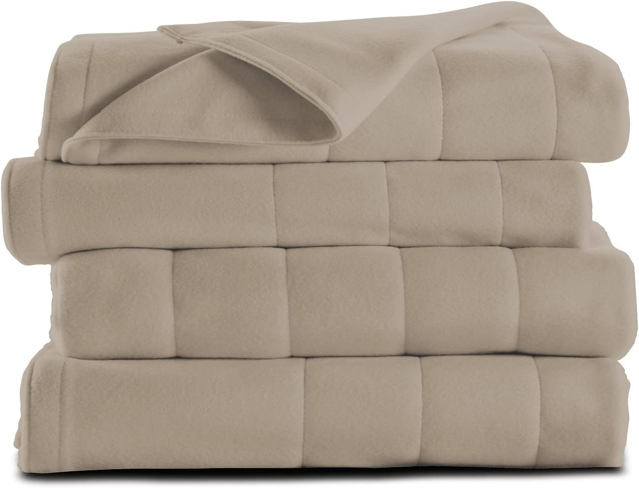 Sunbeam Heated Blanket | Microplush, 10 Heat Settings, Mushroom