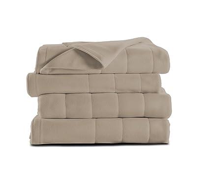 Sunbeam Heated Blanket | Microplush, 10 Heat Settings, Mushroom, Queen best queen size electric blanket