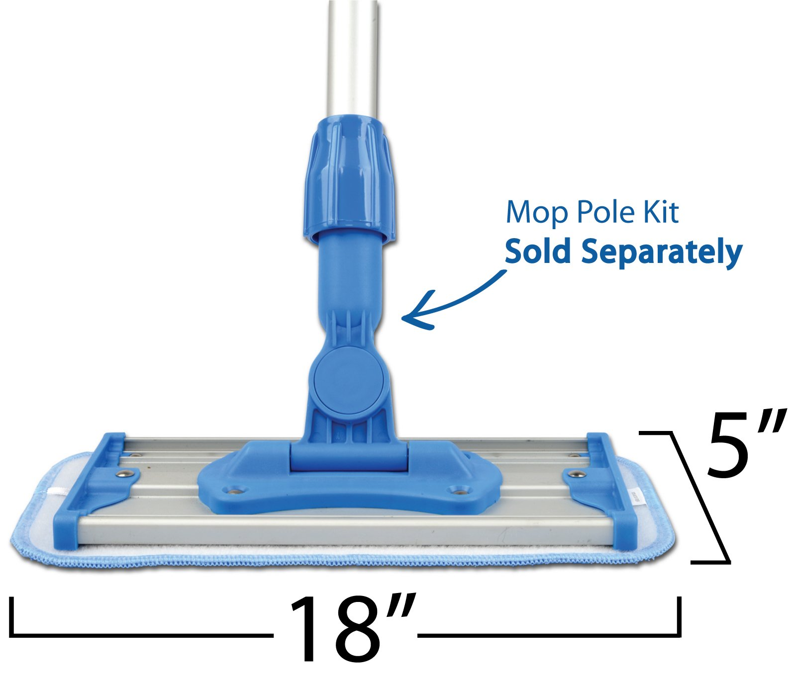 """Microfiber Pros Reusable 18"""" Mop Pads – 5-Pack with 2 Bonus Cloths - Commercial Grade 450 GSM Flat Replacement Heads for Wet Or Dry Floor Cleaning and Scrubbing by Microfiber Pros (Image #6)"""
