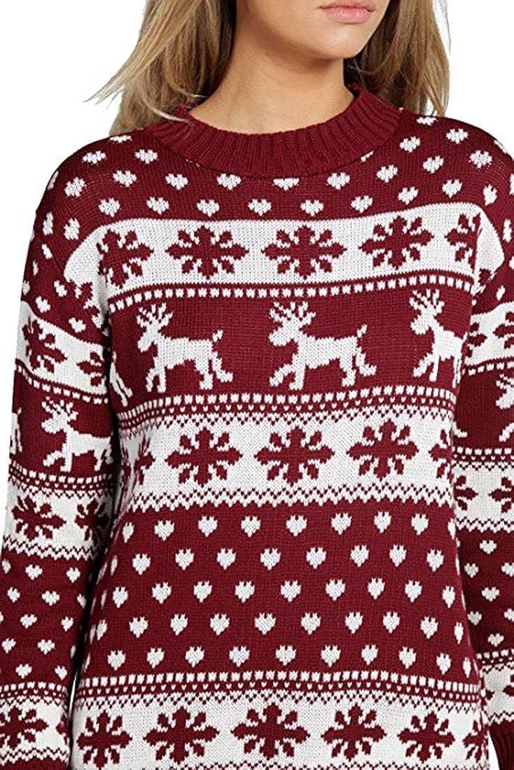 Frauen-Ren-Schneeflocke Kinder Weihnachtsmutter Tochter Sohn Weihnachten 3-13 Jahr Jumper Top Gr/ö/ße 8-26