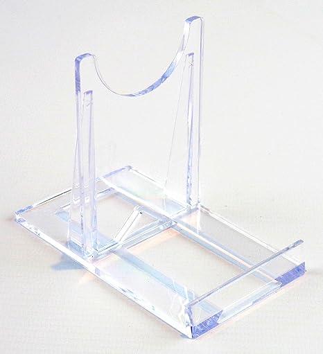 Display Stand  Medium Sliding Clear Plastic  7.5cm 3u0026quot;  Plate Support  sc 1 st  Amazon UK & Display Stand : Medium Sliding Clear Plastic : 7.5cm 3