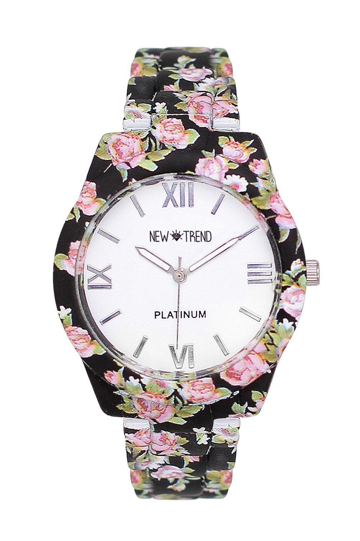 Fashion Mujer Reloj De Pulsera Reloj rosas flores diseño de rosas flores Rose Gold Rose Oro Cobre Rojo Estilo de oro reloj de cuarzo Basel Dalas Mingbo ...