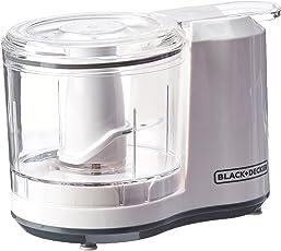 black+decker HC3061–1/2-cup con un solo toque eléctrico picadora, color blanco