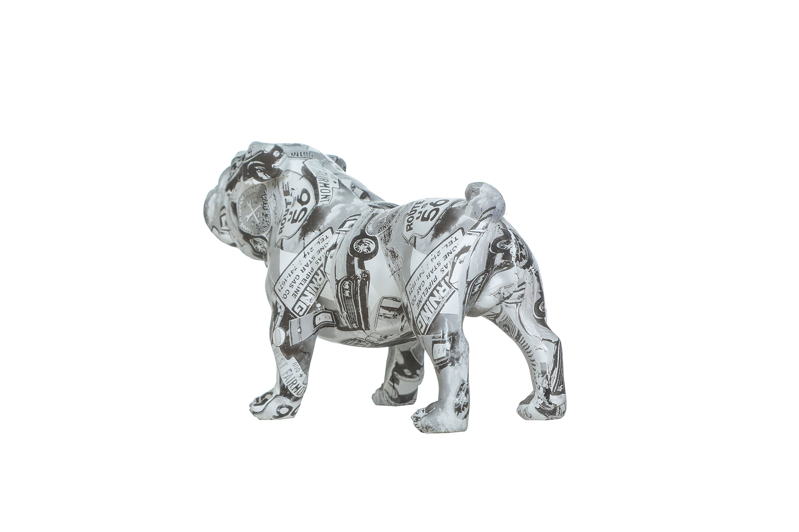 Interior Illusions Plus ii00411 Piggy, Coin Bank, Home Décor, Black/White/Gold by Interior Illusions Plus (Image #2)