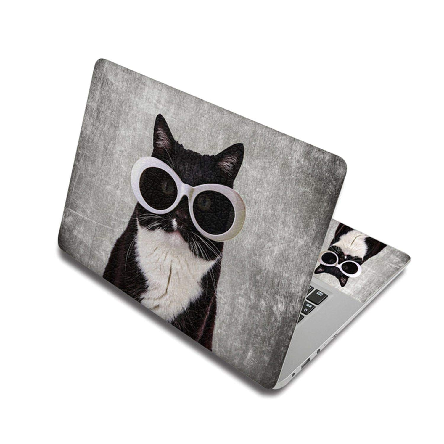 Cute Cat Pattern Sticker For Laptop Skin Removable Notebook Stickers Pc Decal For Xiaomi Pro/Mac Air/Toshiba/Hp,17 Inch,Laptop Skin 6