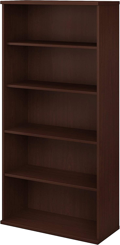 Bush Business Furniture Studio C 5 Shelf Bookcase, Harvest Cherry