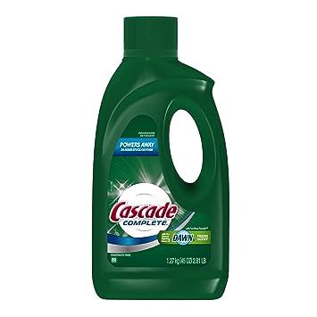 Amazon.com: Cascade completa Gel lavaplatos detergente, 45 ...