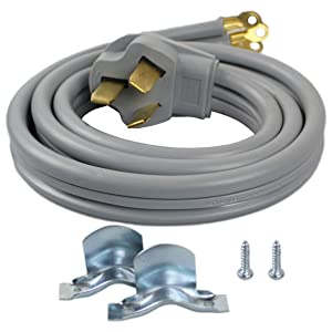 Supplying Demand 3 Wire Range Oven Cord 50-AMP 250 Volts 8 AWG Wire Compatible With GE, Whirlpool, LG, Samsung, Frigidaire (4 Foot)