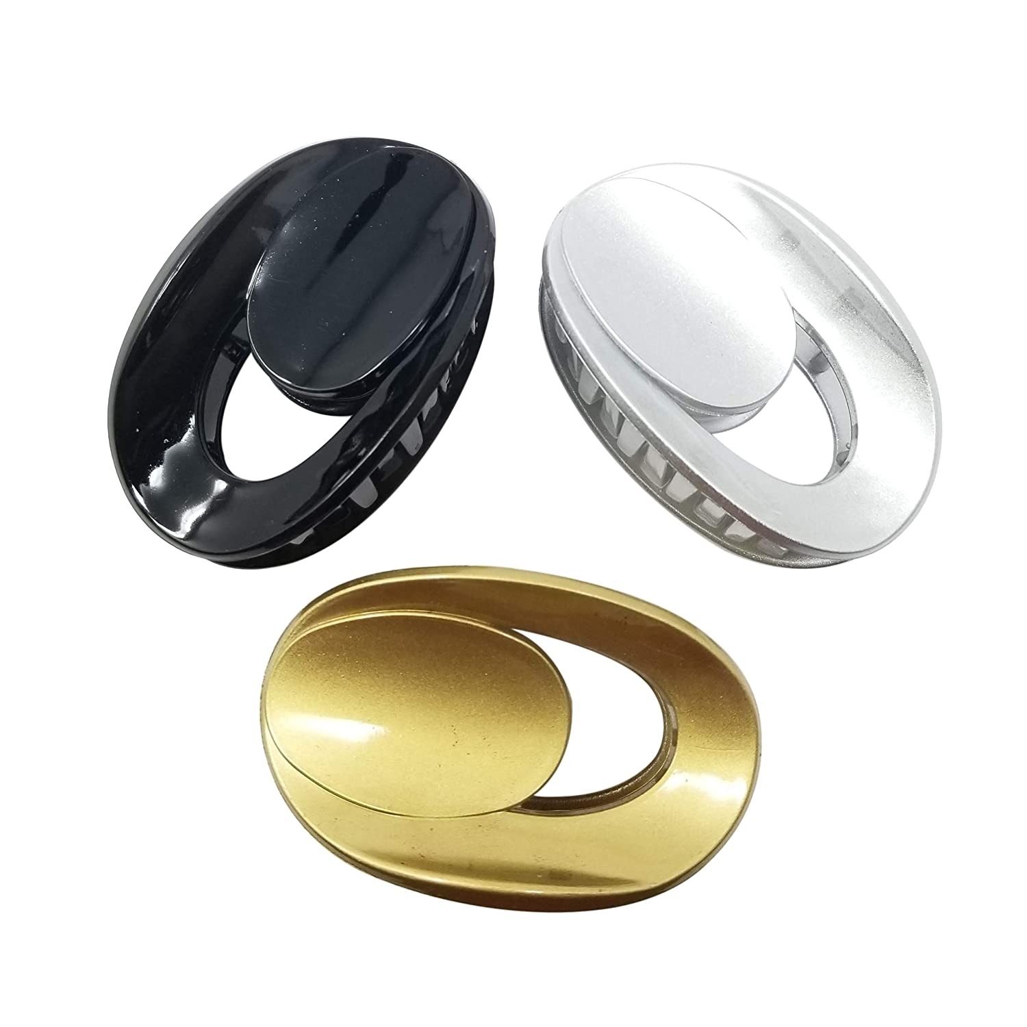 Evogirl Claw Clip Oval Shape No Slip Grip Black, Silver, Golden, Medium, For Women/Girls Reasonable Brands