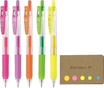 5x ZEBRA Sarasa Black Pens Clip Best Selling Retractable Gel Set Cheap Value New