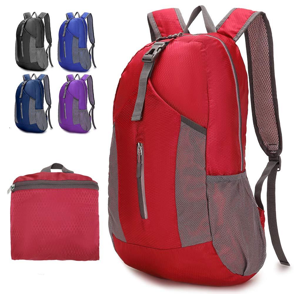 BAGZY 30L Ligera Plegable Mochila de Senderismo Peque/ñas Mochilas de Ciclismo Viaje Escalada Pack Daypack Bolsa de Viaje para Hombre Mujer Deportivas Exterior Acampada