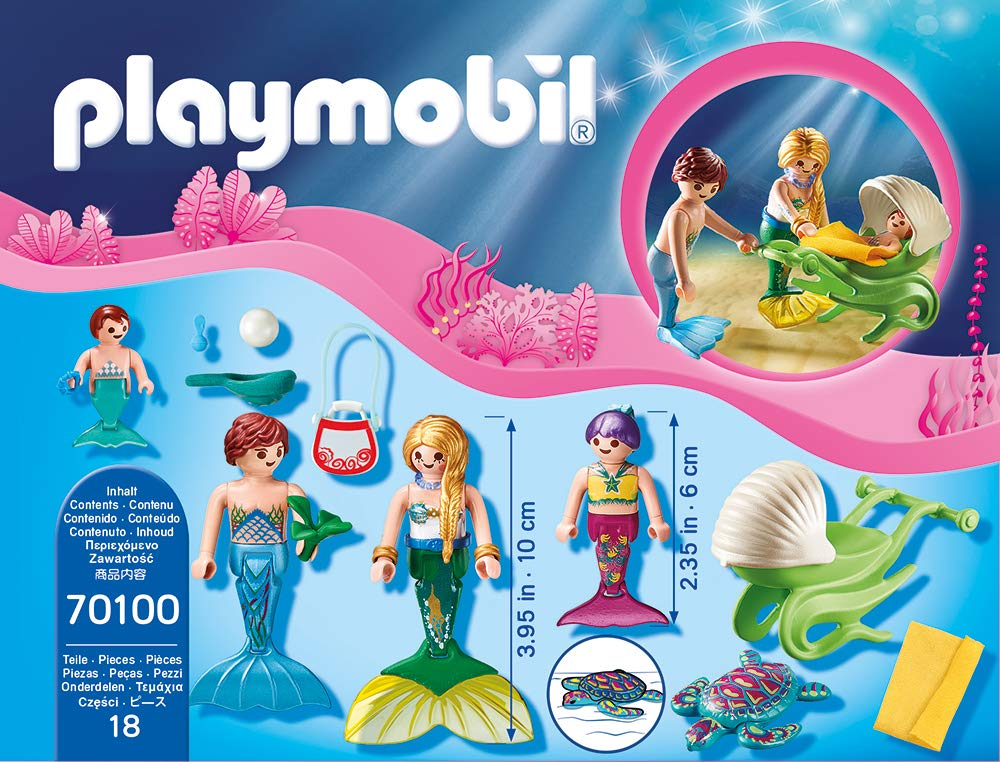 PLAYMOBIL Mermaid Family with Shell Stroller