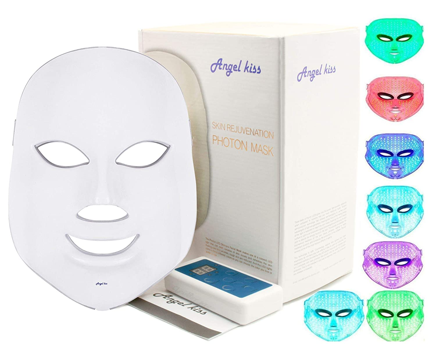 Angel Kiss 7 Color Photon Red Light Therapy Skin Rejuvenation Facial Skin Care Mask