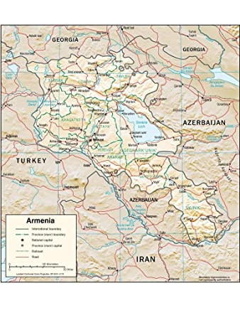 Amazon.com: Lais Jigsaw Physical Map of Armenia 200 Pieces ...