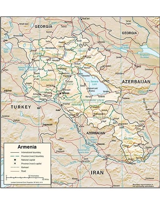 Amazon.com: Lais Jigsaw Physical Map of Armenia 1000 Pieces ...