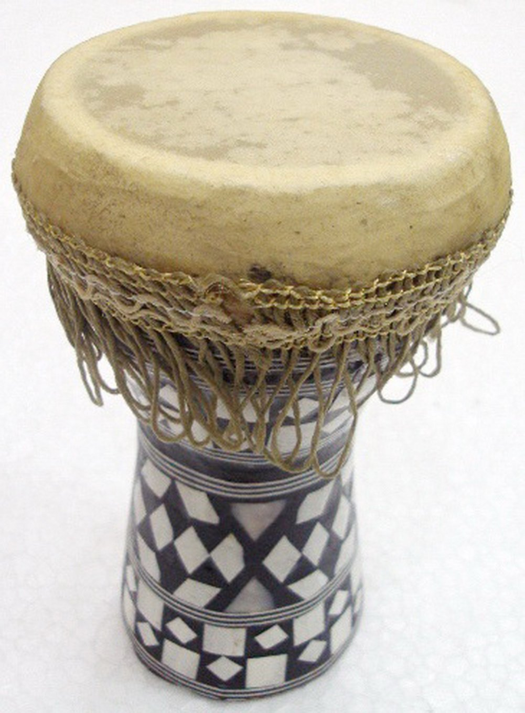 1pcs Small Egyptian Wooden Tabla Drum Doumbek Goat Skin Mosaic 6'' Handmade (425)