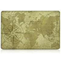 "kwmobile Design Vintage world map Decal sticker for Apple MacBook Air 13"" (from Mid 2011) Front skin foil vinyl decal"