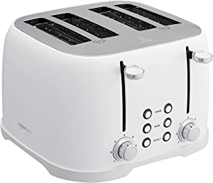 AmazonBasics 4-Slot Toaster, White